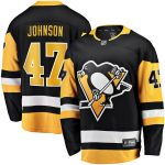 Fanatics Branded Adam Johnson Pittsburgh Penguins Black Home Breakaway Player Jersey