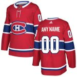 adidas Montreal Canadiens Red Authentic Custom Jersey