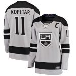Fanatics Branded Anze Kopitar Los Angeles Kings Women's Gray Alternate Breakaway Player Jersey