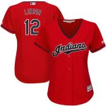 Majestic Francisco Lindor Cleveland Indians Women's Scarlet Alternate 2019 Cool Base Player Jersey