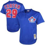 Mitchell & Ness 1997 Joe Carter Toronto Blue Jays Royal Cooperstown Mesh Batting Practice Jersey