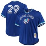 Mitchell & Ness Joe Carter Toronto Blue Jays Royal Big & Tall Cooperstown Collection Mesh Batting Practice Jersey
