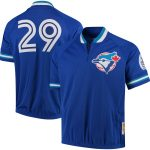 Mitchell & Ness Joe Carter Toronto Blue Jays Royal Cooperstown Collection Mesh Batting Practice Quarter-Zip Jersey