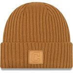 New Era Cleveland Indians Tan Label Cuffed Knit Hat