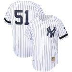 Mitchell & Ness Bernie Williams New York Yankees White Cooperstown Collection Authentic Jersey