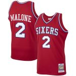 Mitchell & Ness Moses Malone Philadelphia 76ers Red 1982-83 Hardwood Classics Authentic Player Jersey