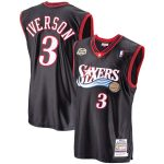 Mitchell & Ness Allen Iverson Philadelphia 76ers Black 2000-01 Hardwood Classics Authentic Player Jersey