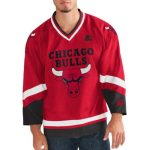 G-III Sports by Carl Banks Chicago Bulls Red/Black Hockey Jersey