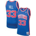 Mitchell & Ness Grant Hill Detroit Pistons Blue 1995-96 Hardwood Classics Swingman Player Jersey