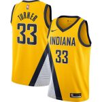 Nike Myles Turner Indiana Pacers Gold Finished Swingman Jersey - Statement Edition