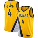 Nike Victor Oladipo Indiana Pacers Gold Finished Swingman Jersey - Statement Edition