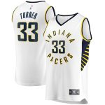 Fanatics Branded Myles Turner Indiana Pacers White Fast Break Replica Player Jersey - Association Edition
