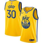 Nike Stephen Curry Golden State Warriors Gold Finished Swingman Jersey - Statement Edition