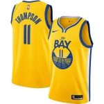 Nike Klay Thompson Golden State Warriors Gold Finished Swingman Jersey - Statement Edition