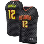 Fanatics Branded De'Andre Hunter Atlanta Hawks Black Fast Break Replica Jersey - Icon Edition