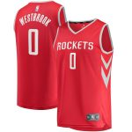Fanatics Branded Russell Westbrook Houston Rockets Youth Red 2018-19 Fast Break Replica Player Jersey - Icon Edition