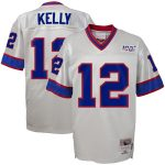 Mitchell & Ness Jim Kelly Buffalo Bills Youth Platinum NFL 100 Retired Player Legacy Jersey