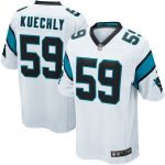 Nike Luke Kuechly Carolina Panthers White Game Jersey