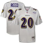 Mitchell & Ness Ed Reed Baltimore Ravens Youth Platinum NFL 100 Retired Player Legacy Jersey