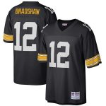 Mitchell & Ness Terry Bradshaw Pittsburgh Steelers Black Retired Player Legacy Replica Jersey