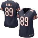 Nike Mike Ditka Chicago Bears Women's Navy Blue Retired Game Jersey