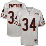 Mitchell & Ness Walter Payton Chicago Bears Youth Platinum 100th Season Retired Player Legacy Jersey