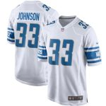Nike Kerryon Johnson Detroit Lions White Game Jersey