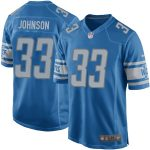 Nike Kerryon Johnson Detroit Lions Blue Game Jersey