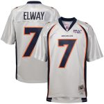 Mitchell & Ness John Elway Denver Broncos Youth Platinum NFL 100 Retired Player Legacy Jersey
