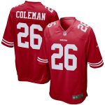 Nike Tevin Coleman San Francisco 49ers Scarlet Game Jersey