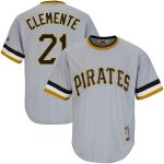 Majestic Roberto Clemente Pittsburgh Pirates Gray Big & Tall Cooperstown Cool Base Player Jersey