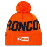New Era Denver Broncos Orange 2019 NFL Sideline Road Official Sport Knit Hat
