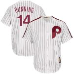 Majestic Jim Bunning Philadelphia Phillies White Cooperstown Collection Cool Base Player Jersey