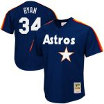 Mitchell & Ness Nolan Ryan Houston Astros Navy 1988 Authentic Cooperstown Collection Mesh Batting Practice Jersey