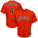 Majestic George Springer Houston Astros Orange 2019 World Series Bound Official Cool Base Player Jersey
