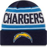 New Era Los Angeles Chargers Youth Navy/White Stated Cuffed Knit Hat