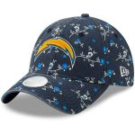 New Era Los Angeles Chargers Women's Navy Blossom 9TWENTY Adjustable Hat