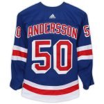 Fanatics Authentic Lias Andersson New York Rangers Game-Used #50 Blue Set 1 Jersey from the 2018-19 NHL Season - Size 56