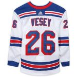 Fanatics Authentic Jimmy Vesey New York Rangers Game-Used #26 White Set 1 Jersey from the 2018-19 NHL Season - Size 58