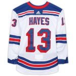 Fanatics Authentic Kevin Hayes New York Rangers Game-Used #13 White Jersey from the 2018-19 NHL Preseason - Size 58