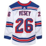 Fanatics Authentic Jimmy Vesey New York Rangers Game-Used #26 White Jersey from the 2018-19 NHL Preseason - Size 58