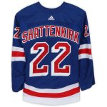 Fanatics Authentic Kevin Shattenkirk New York Rangers Game-Used #22 Blue Set 1 Jersey from the 2018-19 NHL Season - Size 56