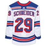 Fanatics Authentic Cole Schneider New York Rangers Game-Used #29 White Jersey from the 2018-19 NHL Preseason - Size 56