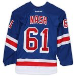 Fanatics Authentic Rick Nash New York Rangers Game-Used #61 Blue Jersey from the First Round of the 2016 Stanley Cup Playoffs - Size 56