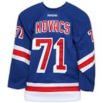 Fanatics Authentic Robin Kovacs New York Rangers Game-Used #71 Blue Jersey from the 2016-17 NHL Preseason - Size 56