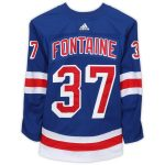 Fanatics Authentic Gabriel Fontaine New York Rangers Game-Used #37 Blue Jersey from the 2018-19 NHL Preseason - Size 56