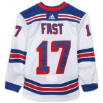 Fanatics Authentic Jesper Fast New York Rangers Game-Used #17 White Jersey from the 2018-19 NHL Preseason - Size 56