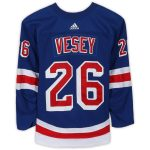 Fanatics Authentic Jimmy Vesey New York Rangers Game-Used #26 Blue Set 2 Jersey from the 2017-18 NHL Season - Size 58