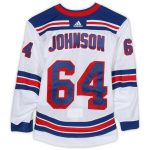 Fanatics Authentic Reese Johnson New York Rangers Game-Used #64 White Jersey from the 2018-19 NHL Preseason - Size 56