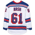 Fanatics Authentic Rick Nash New York Rangers Game-Used #61 White Jersey from the First Round of the 2016 Stanley Cup Playoffs - Size 56